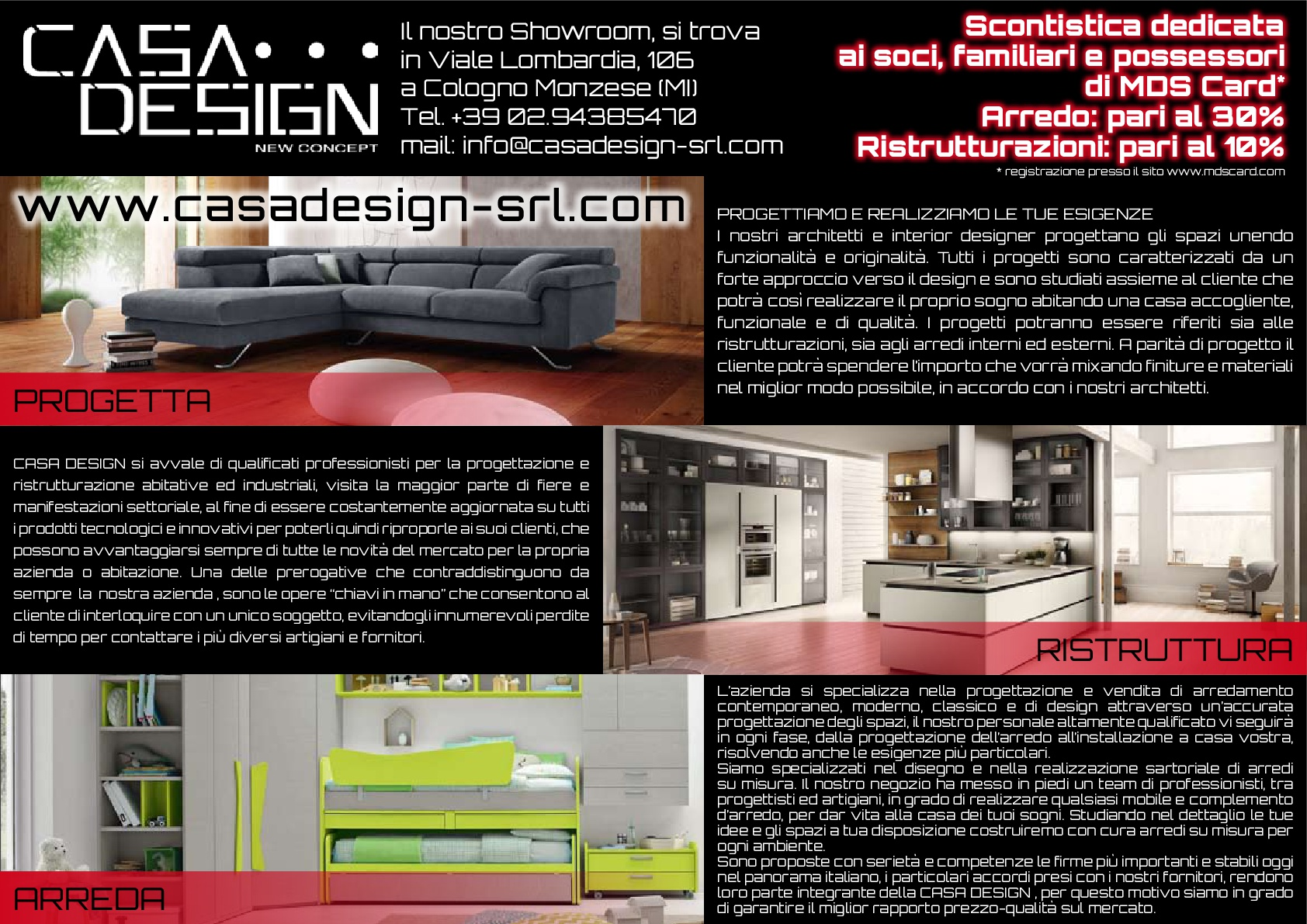 Casa design arredamenti mds for Casa design arredamenti