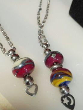 Collane in acciaio con perle
