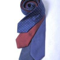 Cravatte in pura seta tinta unita